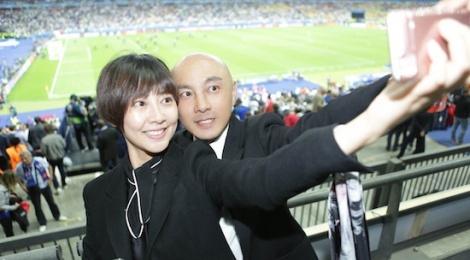 Vo chong 'Truong Tam Phong' Truong Ve Kien xem Euro 2016 hinh anh