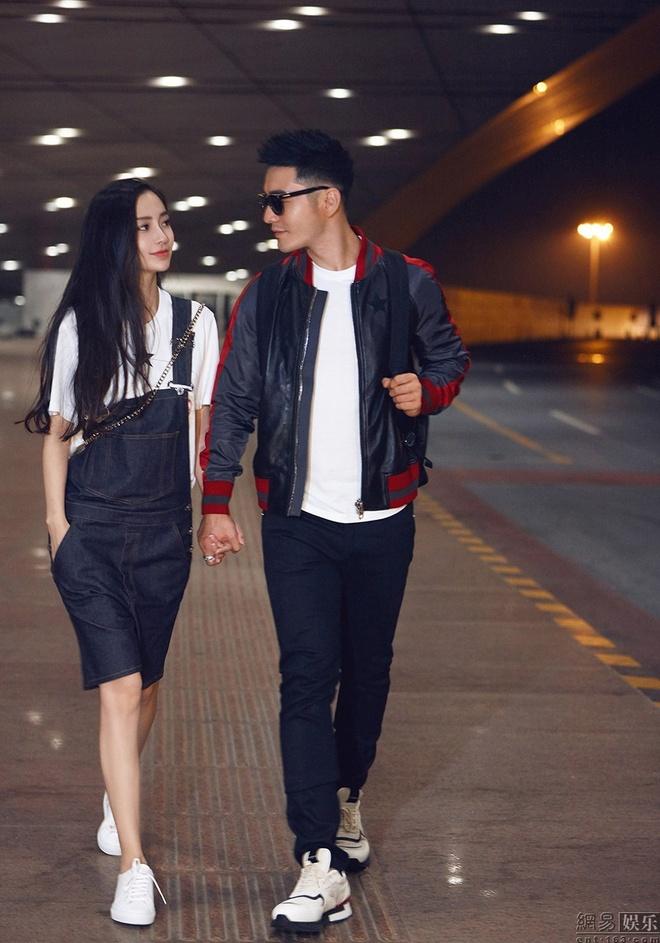 Angelababy va Huynh Hieu Minh tinh cam o san bay hinh anh 2