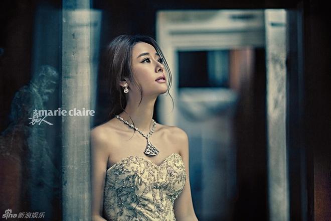 Lam Tam Nhu duoc chinh sua che bung bau trong loat anh moi hinh anh 2