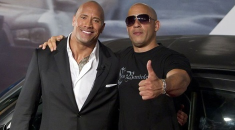 Vin Diesel bi The Rock che nhao khi quay 'Fast & Furious 8'? hinh anh
