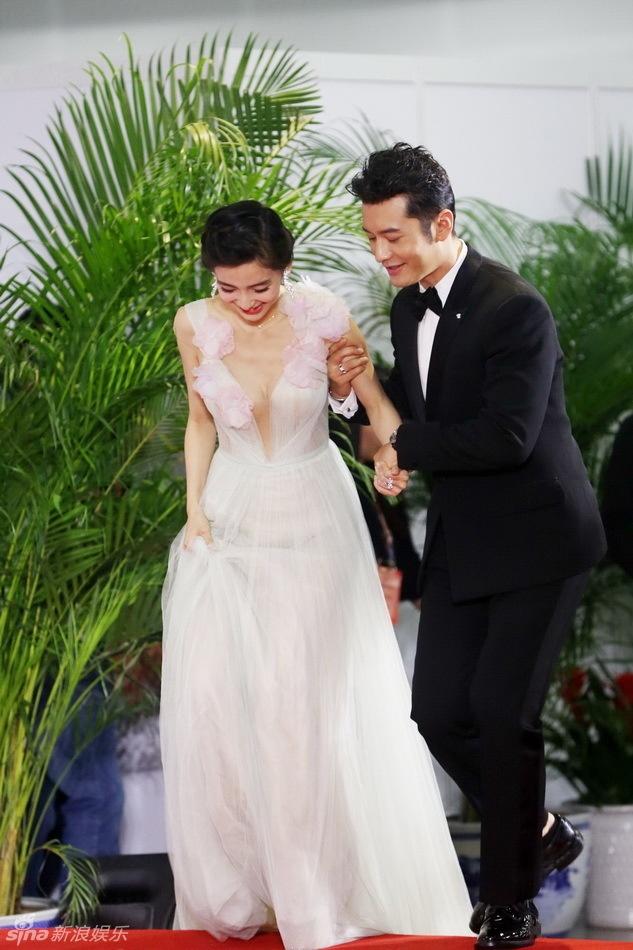 Angelababy duoc Huynh Hieu Minh thap tung tren tham do hinh anh 4