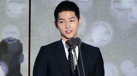 Song Joong Ki noi ve tin cuoi Song Hye Kyo khi nhan giai lon hinh anh