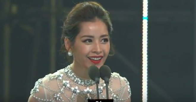 Chi Pu noi tieng Anh khi nhan giai tai Asia Artist Awards 2016 hinh anh