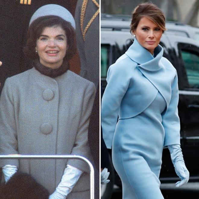 Melania Trump mac giong Jackie Kennedy ngay chong nham chuc hinh anh 2