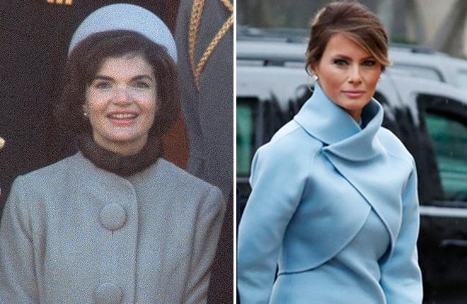Melania Trump mac giong Jackie Kennedy ngay chong nham chuc hinh anh