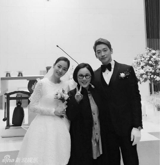 Kim Tae Hee mac vay gia re, Bi Rain dien vest cu o le cuoi hinh anh 1