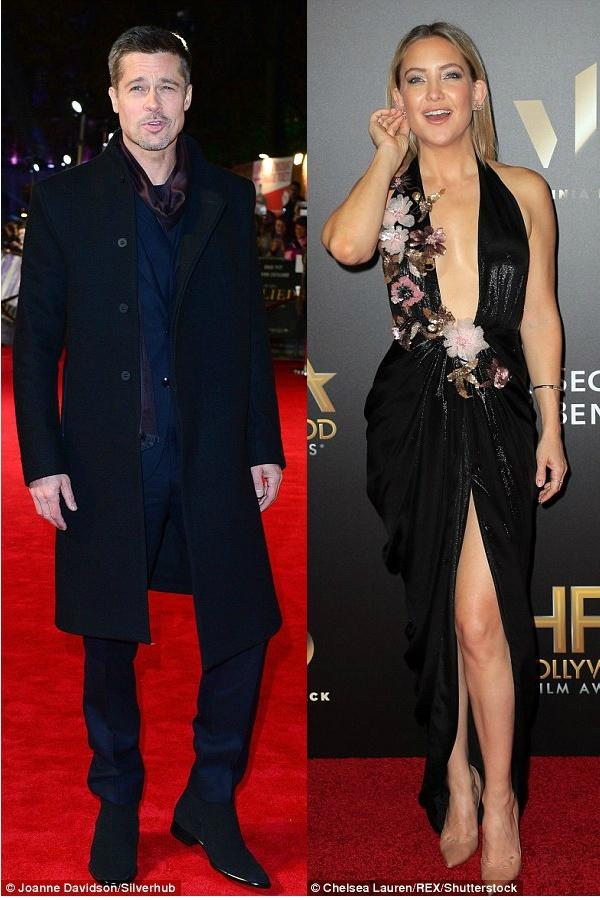 Brad Pitt dang hen ho Kate Hudson anh 1