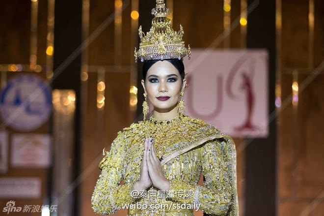 Hoa hau Thai Lan mac quoc phuc dinh 300.000 vien kim cuong hinh anh 1