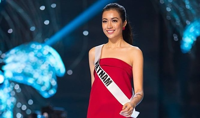 Le Hang noi bat khi tong duyet truoc chung ket Miss Universe hinh anh