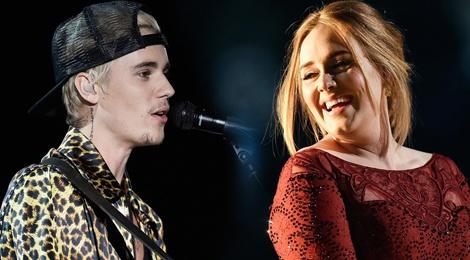 Adele benh vuc Justin Bieber tren san khau hinh anh