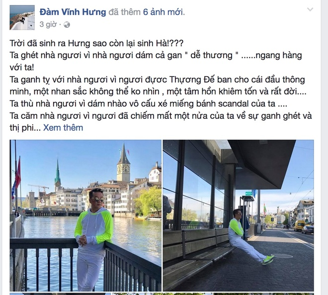 Dam Vinh Hung viet cho Ho Ngoc Ha anh 3