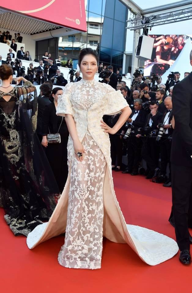 Ly Nha Ky tren tham do Cannes anh 2
