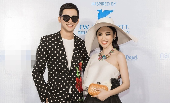 Angela Phuong Trinh va ban trai ra Phu Quoc xem show thoi trang hinh anh