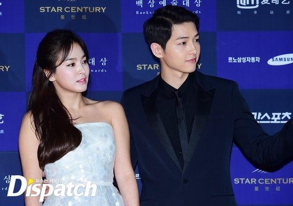 Song Joong Ki tung chup anh ben hinh quang cao cua Song Hye Kyo hinh anh