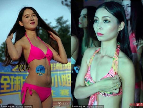 Thi sinh Hoa hau Bikini Toan cau 2017 bi che tu voc dang den guong mat hinh anh 4