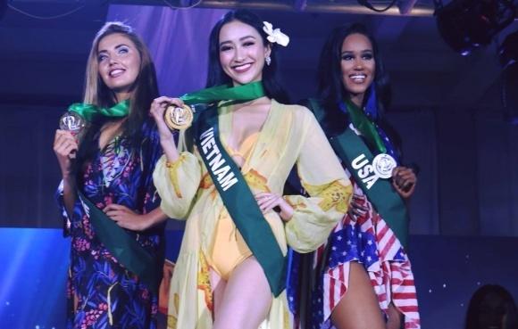 Ha Thu doat giai vang Trang phuc bien tai Miss Earth 2017 hinh anh