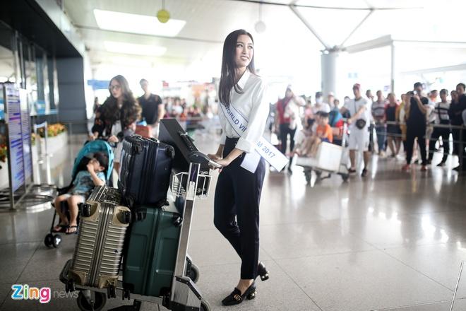 Hoa hau My Linh tuoi tan truoc gio sang Trung Quoc thi Miss World 2017 hinh anh 8