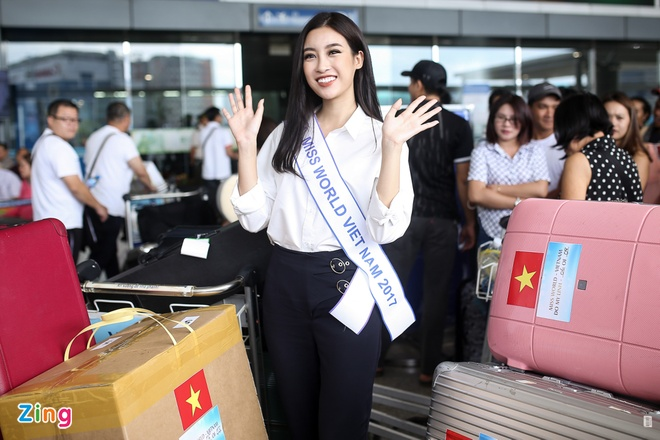 Hoa hau My Linh tuoi tan truoc gio sang Trung Quoc thi Miss World 2017 hinh anh