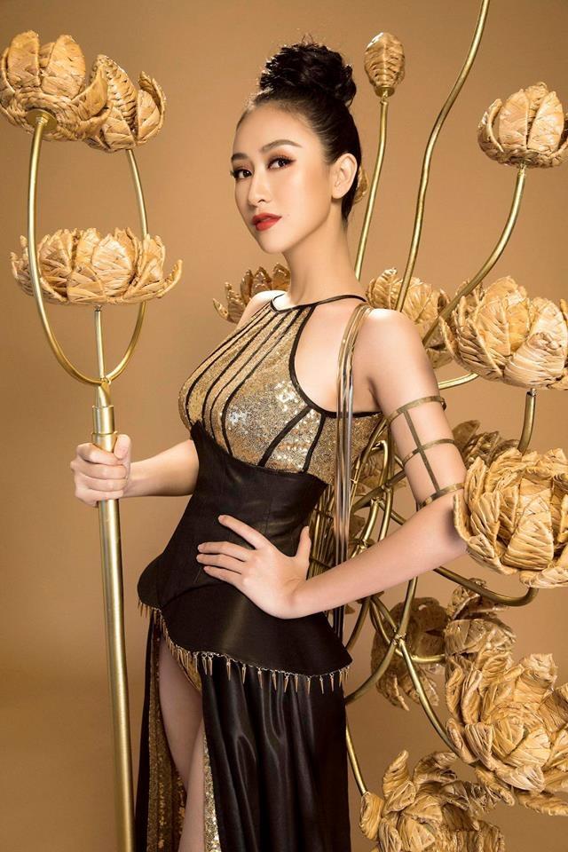 Ha Thu dat giai dong Trang phuc da hoi tai Hoa hau anh 3