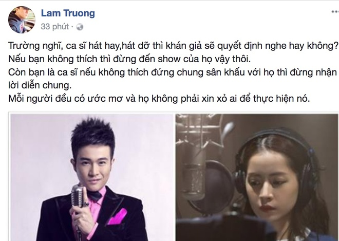 'Anh Hai' Lam Truong len tieng bao ve khi Chi Pu bi ho hao cam hat hinh anh 3