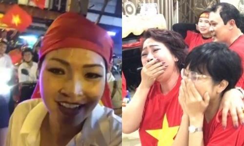 Phuong Thanh va dong nguoi ham mo ket cung vi con bao U23 Viet Nam hinh anh