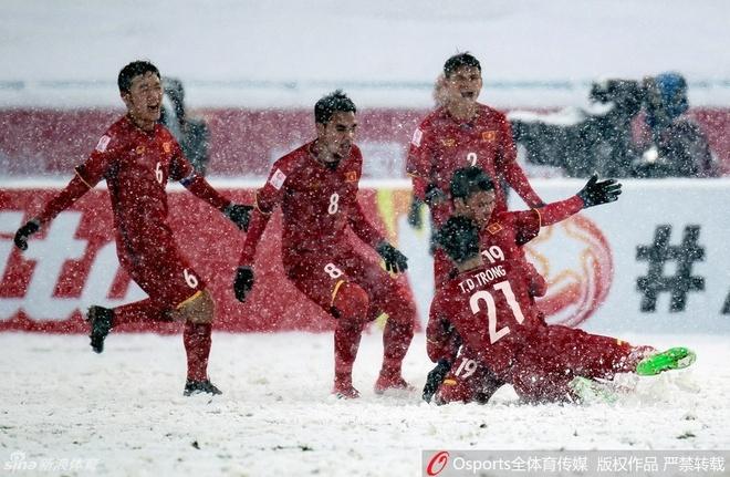 Nguoi Trung Quoc than phuc U23 Viet Nam va Quang Hai hinh anh