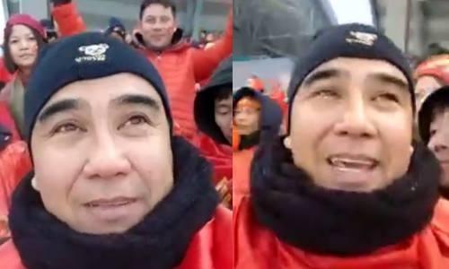 Tu Thuong Chau, MC Quyen Linh va cac nghe si bat khoc vi U23 Viet Nam hinh anh
