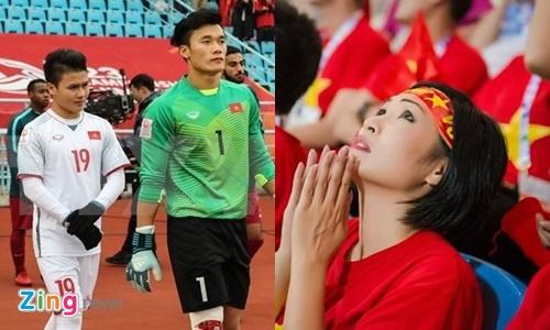 Sao Viet nhac nho Bui Tien Dung va U23 Viet Nam 'dung yeu gai showbiz' hinh anh
