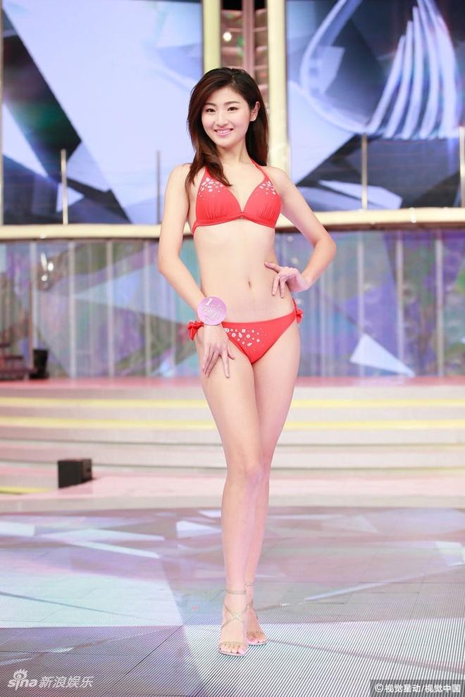Nguoi dep Hoa hau Quoc te Trung Quoc lo nhuoc diem vi bikini hinh anh 8