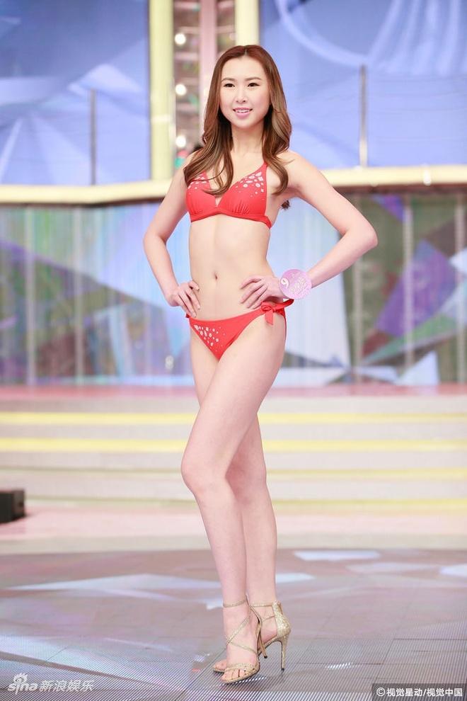 Nguoi dep Hoa hau Quoc te Trung Quoc lo nhuoc diem vi bikini hinh anh 6