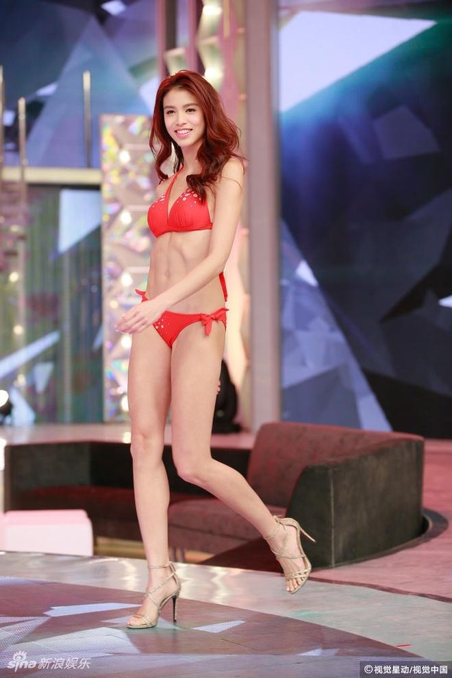 Nguoi dep Hoa hau Quoc te Trung Quoc lo nhuoc diem vi bikini hinh anh 1
