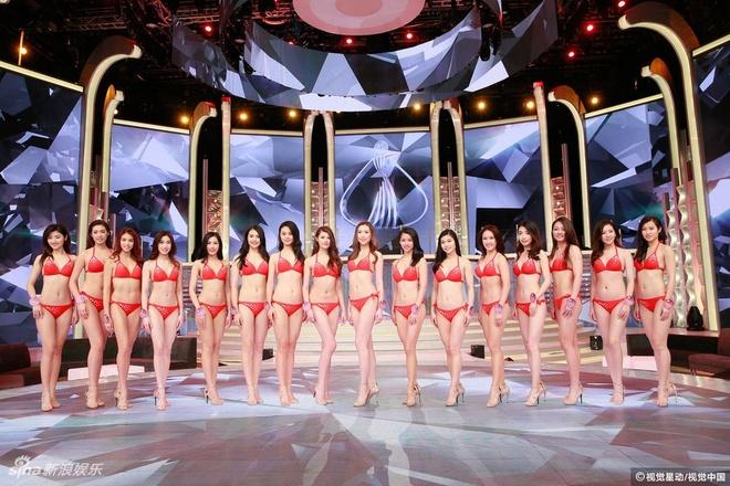 Nguoi dep Hoa hau Quoc te Trung Quoc lo nhuoc diem vi bikini hinh anh 11