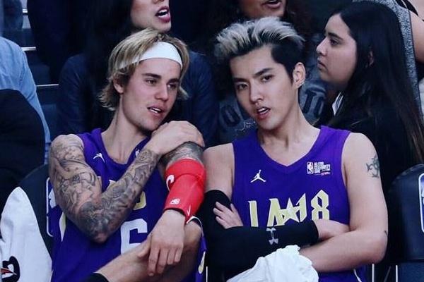 Justin Bieber va 'Duong Tang' Ngo Diec Pham thi dau bong ro o My hinh anh
