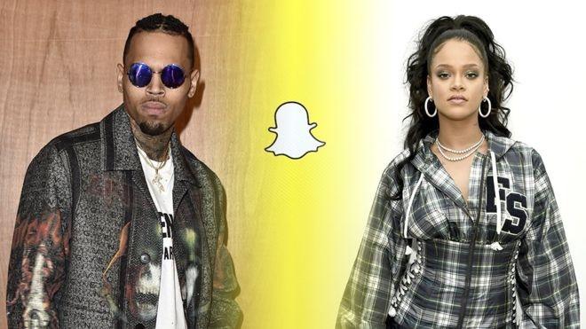Rihanna buc xuc vi Snapchat anh 1