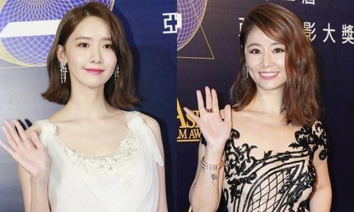 Yoona noi bat ben dan sao Hoa ngu tren tham do Asian Film Awards hinh anh