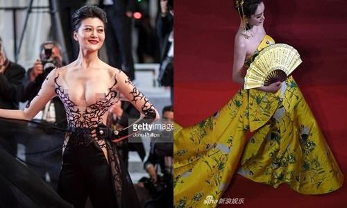 Sao nu mac phan cam, dong gia Pham Bang Bang nao loan tham do Cannes hinh anh