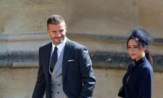 Clip vo chong David Beckham du le cuoi Hoang tu Harry vao ngay 19/5 hinh anh