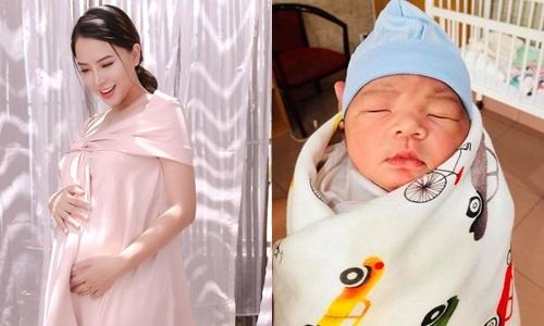 Thanh Dat, Hai Bang hanh phuc khoe anh con trai moi sinh hinh anh