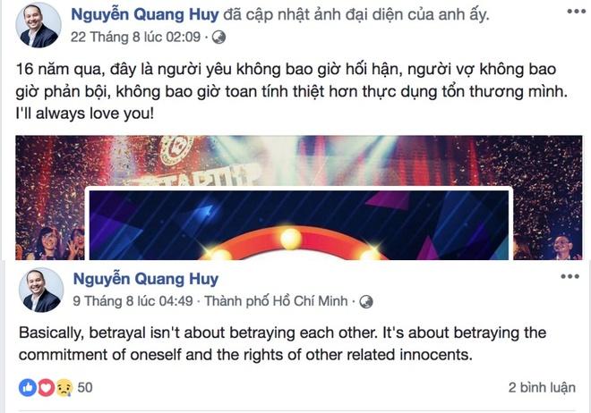 Ong bau Quang Huy tung phan ung the nao voi tin ly hon Pham Quynh Anh? hinh anh 2