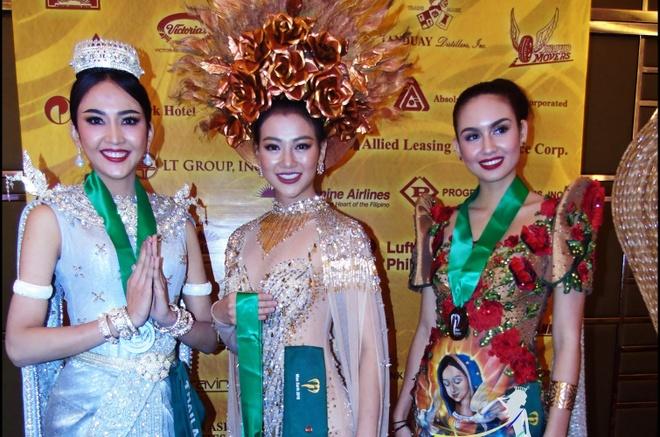 Dai dien Viet Nam gianh giai vang trang phuc dan toc o Miss Earth 2018 hinh anh 1