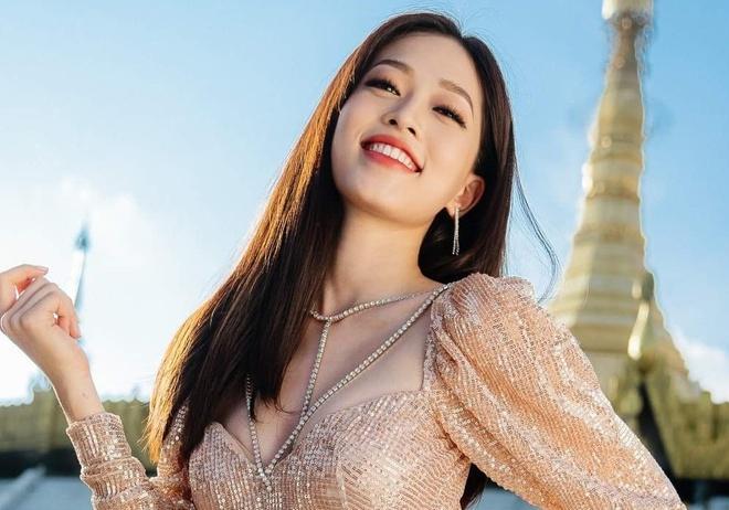 Anh chan dung cua A hau Phuong Nga lot top 9 Miss Grand International hinh anh