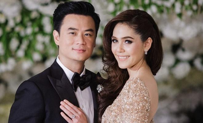 Hon nhan cua my nhan noi nhat showbiz Thai Lan va ty phu dep trai hinh anh