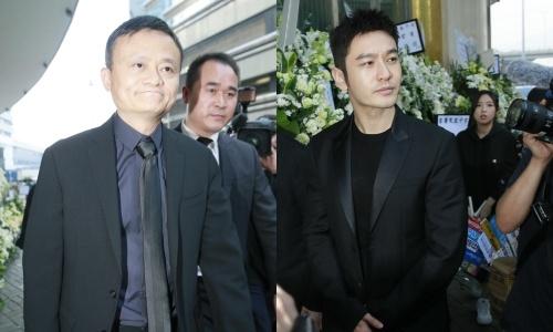 Jack Ma, Huynh Hieu Minh va nhieu nghe si den du tang le Kim Dung hinh anh