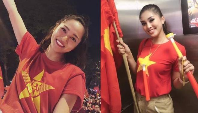 Hang loat sao Viet xuong duong di bao mung chuc vo dich AFF Cup 2018 hinh anh