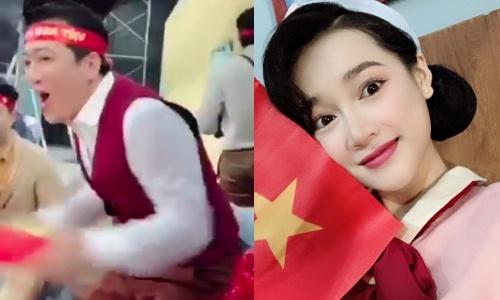 Truong Giang, Nha Phuong phan khich sau ban thang cua Anh Duc hinh anh