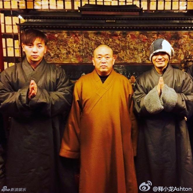 Vuong Bao Cuong xuc dong khi gap 'su thuc Thieu Lam' Thich Tieu Long hinh anh 7