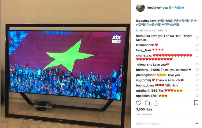 Lee Da Hae dau tim khi xem Viet Nam da anh 1