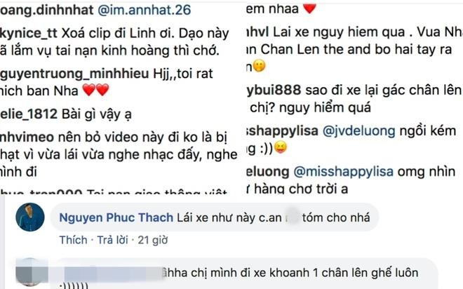 Hoang Thuy Linh bi chi trich lai xe anh 1