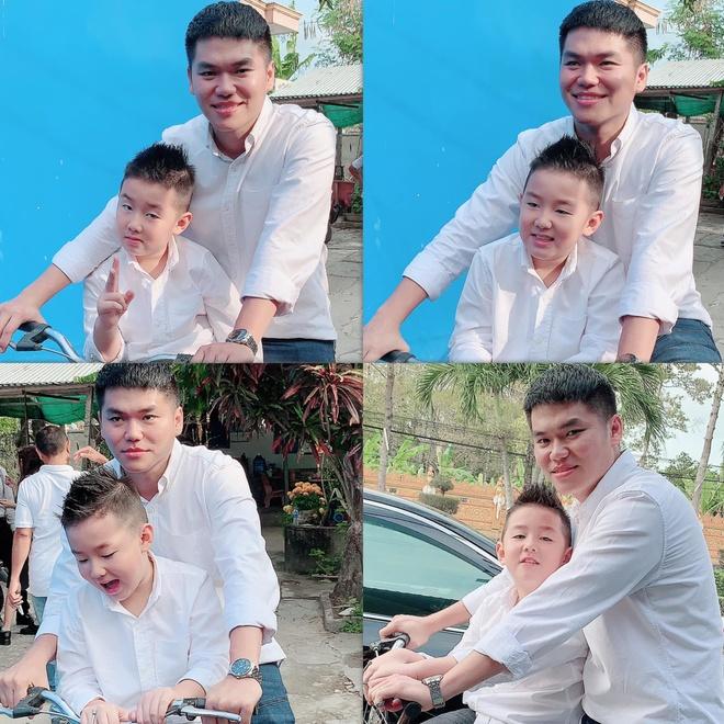 Con trai Dan Truong o My voi me, Dang Thu Thao don Tet ben con hinh anh 9