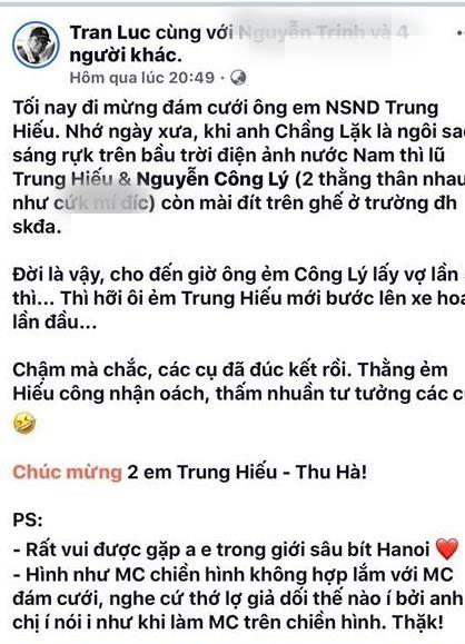 Thanh Trung, Thao Van bi Tran Luc noi dan dam cuoi 'gia doi, tho lo' hinh anh 2